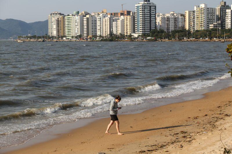 Novo teste feito na Beira-Mar Norte deu resultado satisfatório – foto: Anderson Coelho
