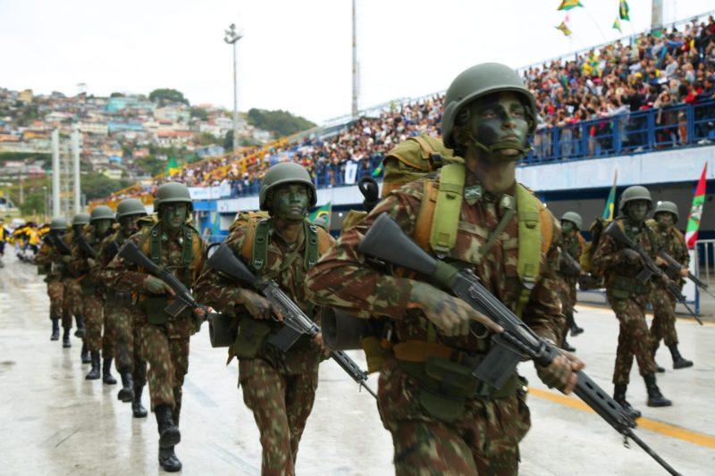 Exército participou das comemorações - Leonardo Sousa/PMF/Divulgação