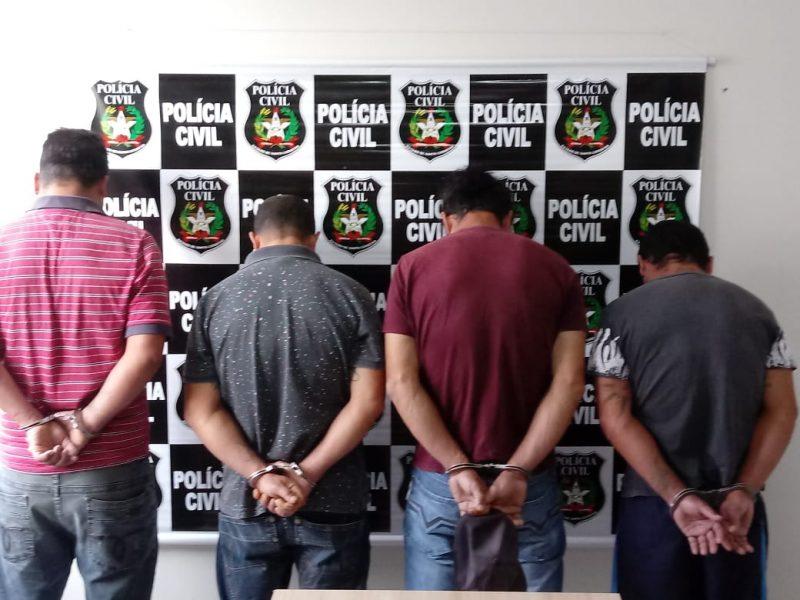 Ao menos dez pessoas foram presas durante operação – Polícia Civil/Divulgação