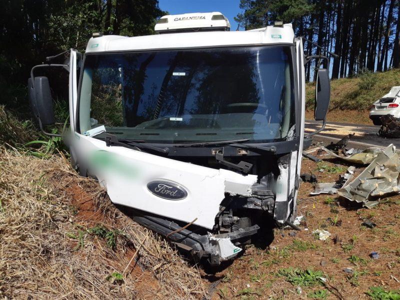Caminhão saiu da pista - PRF/Divulgação/ND