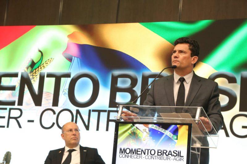 Moro no evento Momento Brasil, promovido pela Acart, em Florianópolis – Foto: Anderson Coelho/ND