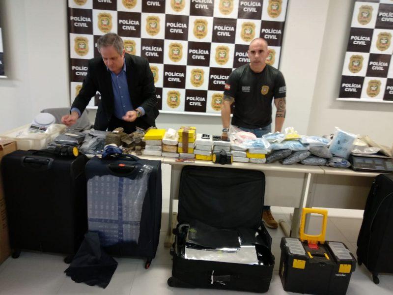 Polícia suspeita que as drogas seriam enviadas para a Europa.- Polícia Civil/Divulgação/ND