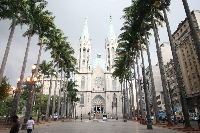 A Catedral da Sé é a igreja mais famosa de São Paulo. Assim como a cidade, ela também faz aniversário em 25 de janeiro - Rubens Chiri/SPTuris - Rubens Chiri/SPTuris/Rota de Férias/ND