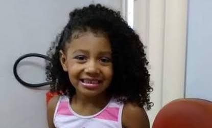 Ágatha Félix, de oito anos, estava em uma kombi quando foi morta – Portal R7/Divulgação/ND