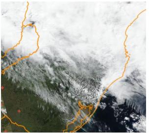Focos de incêndios na região Sul do Brasil – Foto: INPE/Divulgação/ND