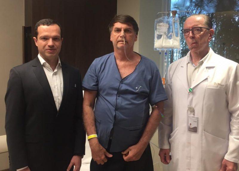 Bolsonaro vai mudar dieta no jantar, de líquida para cremosa, diz médico – Reprodução/Twitter/Arquivo/ND