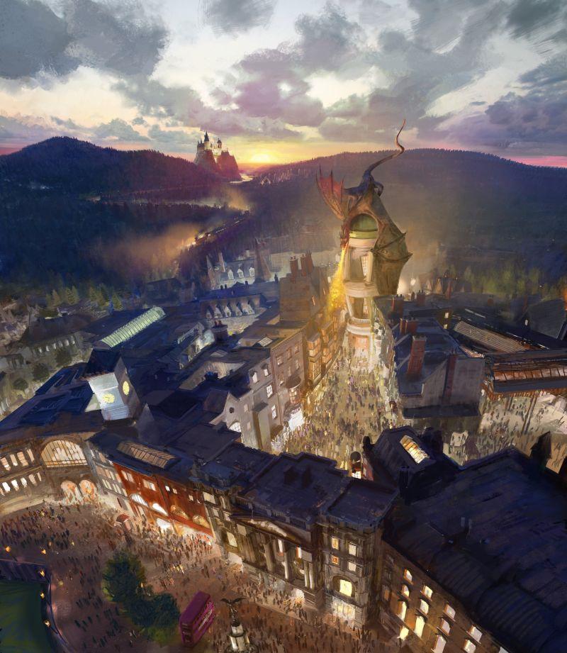 No Universal Studios o destaque fica por conta do The Wizarding World of Harry Potter Diagon Alley, que retrata o icônico Beco Diagonal - Divulgação - Divulgação/Rota de Férias/ND