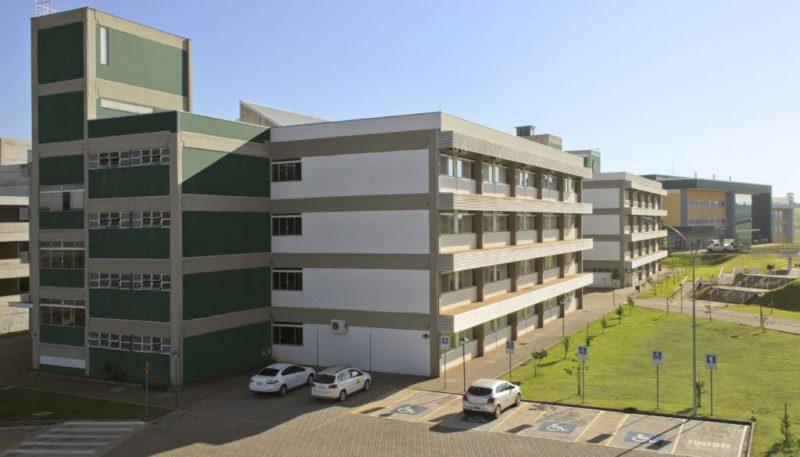 Fachada da universidade UFFS em Chapecó