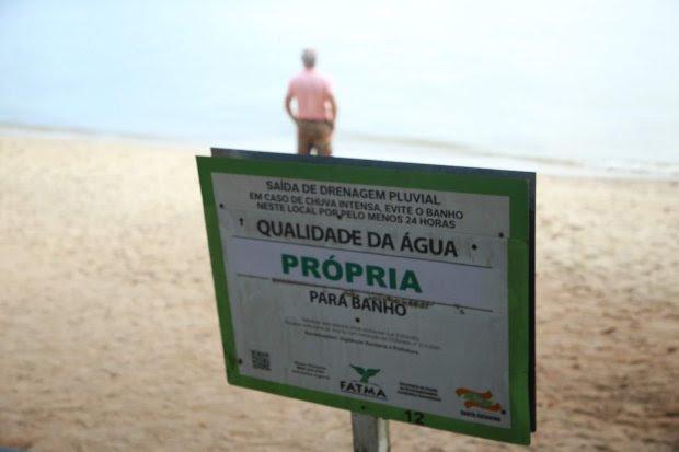 Estudo de balneabilidade aponta que 82,5% dos pontos conferidos estão próprios para banho – Reprodução/Governo de Santa Catarina