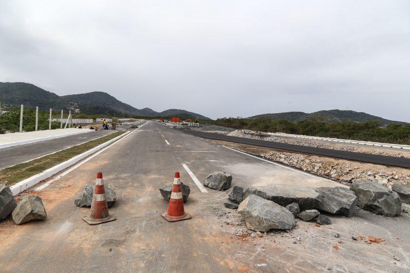 Parte do acesso ao aeroporto pelo trevo da Tapera também está em pista simples (trecho 1B) – Anderson Coelho/ND
