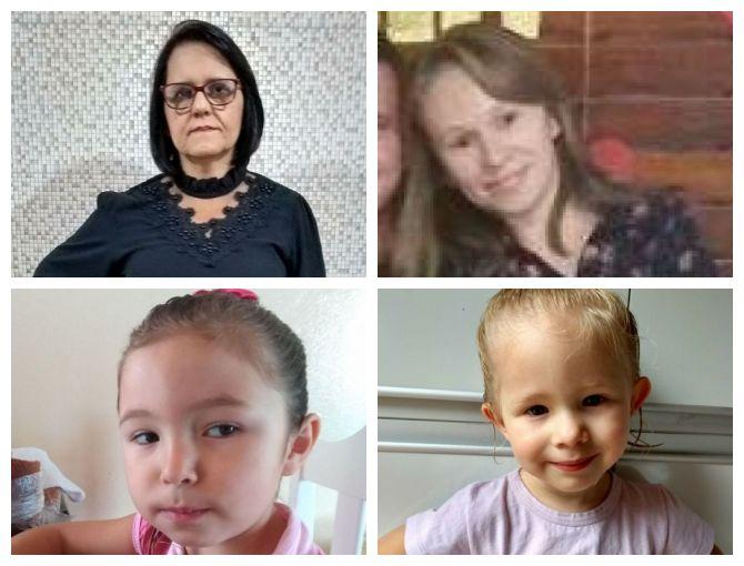 As vítimas do grave acidente na BR-282 eram todas da mesma família. Morreram duas crianças e sua avó e mãe – Foto: Facebook/Reprodução