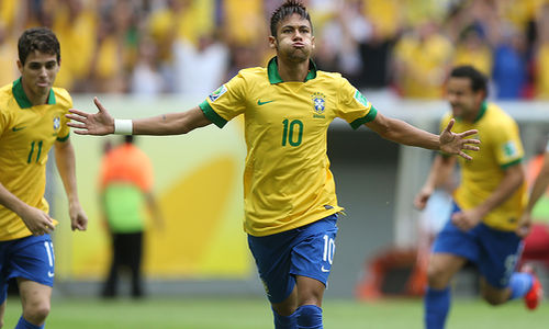 Copa das Confederações de 2013: Decisivo em todo o torneio, Neymar foi eleito o craque da competição vencida pelo Brasil. - Reprodução