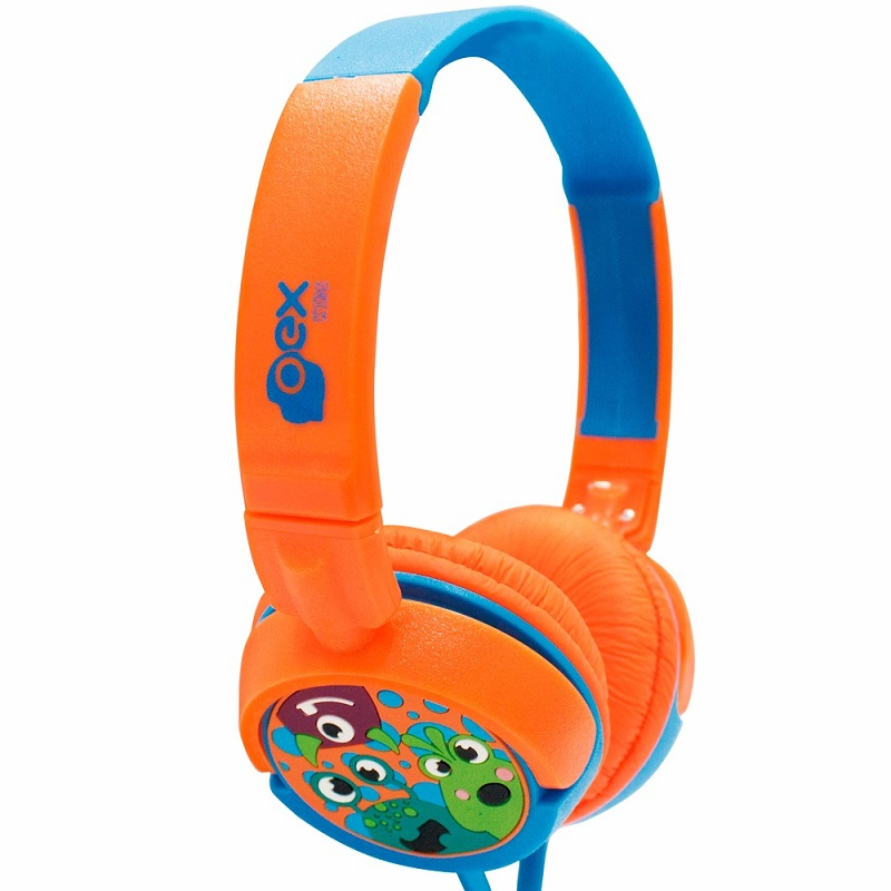 Headphone Boo!, da OEX – Colorido e com uma estampa bem simpática, o fone de ouvido da OEX vem com um diferencial bem interessante: a potência é limitada. São apenas 15 mW para não agredir os ouvidos dos pequenos. Outro detalhe interessante são as diferentes texturas usadas pelo produto. Enquanto os alto-falantes são acolchoados por dentro e emborrachados por fora, a haste é antiderrapante. Preço sugerido: R$ 49,90. - Crédito: Divulgação/33Giga/ND