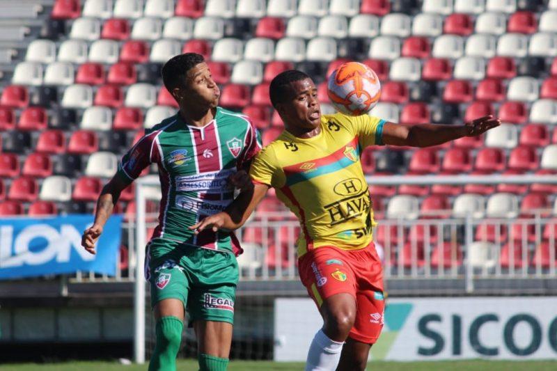 Fluminense e Brusque ficaram no empate – Foto: Lucas Gabriel/BrusqueFC/NDD