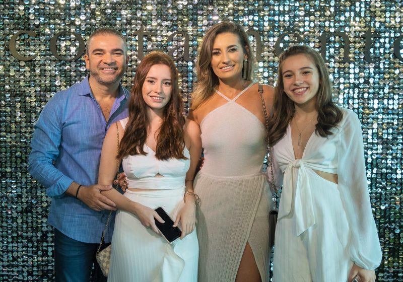 Delton Batista, vice-presidente da Acostamento, com a mulher Sharlene Corrêa e as filhas Daline (à esq.) e Samantha - Hermes Bezerra/Divulgação/ND