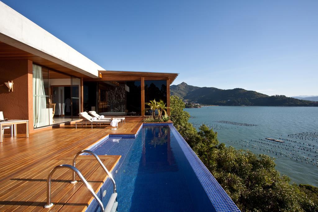 Detalhe da piscina privativa de um dos bangalôs do resort Ponta dos Ganchos - Divulgação - Divulgação/Rota de Férias/ND