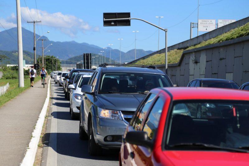 Terceira faixa é a alternativa para desafogar o trânsito em Palhoça – Foto: Anderson Coelho/ND