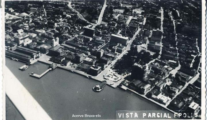 Vista panorâmica da baía sul na década de 1960 - Acervo Bruxo ELS/Divulgação/ND