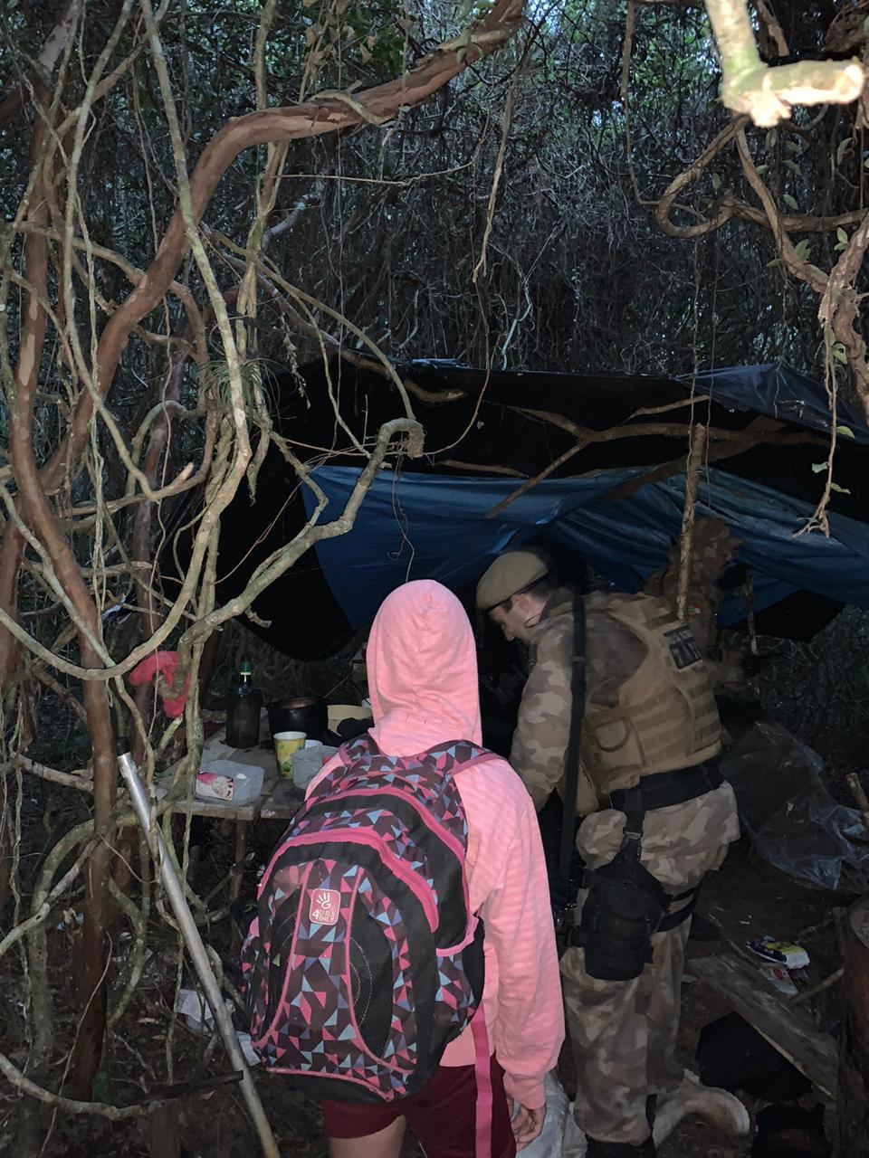 Menina de 13 anos foi encaminhada a um abrigo em Palhoça - Polícia Militar/Divulgação/ND