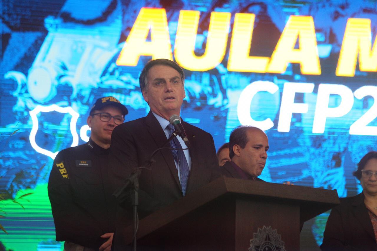 Está é a segunda vez que Bolsonaro realiza uma visita como presidente em SC. Em maio, ele participou do Congresso de Gideões em Camboriú, no Vale do Itajaí - Anderson Coelho/ND