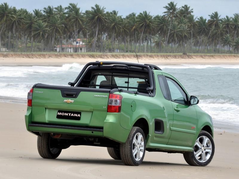 A versão Sport da Chevrolet Montana atual foi apresentada em um verde chamativo durante o lançamento do modelo - Foto: Divulgação - Foto: Divulgação/Garagem 360/ND