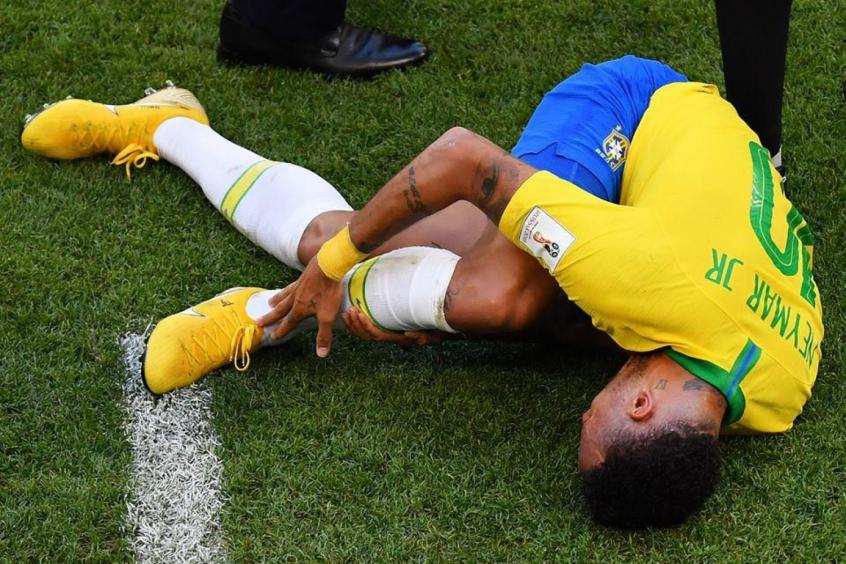 Copa do Mundo de 2018: Atuações discretas no Mundial, e fama de cai-cai na imprensa internacional. Brasil caiu nas quartas para a Bélgica - Foto: Reprodução