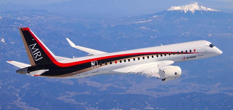 Mitsubishi: para concorrer com a Embraer e com a Bombardier - que se fundiu com a Airbus, o Mitsubishi Regional Jet foi lançado em 2015 e tem capacidade para até 90 passageiros - Foto: Divulgação - Foto: Divulgação/Garagem 360/ND