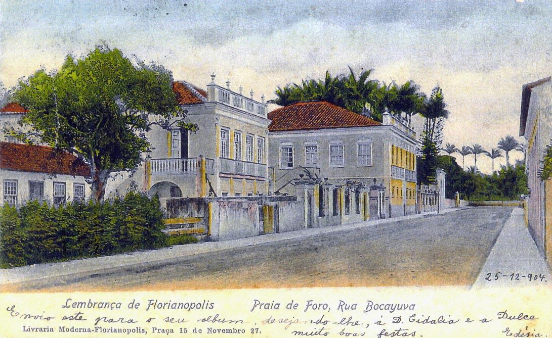 Rua Bocaiuva, próximo à esquina com a futura Avenida Trompowsky. Estas residências há muito foram demolidas - Acervo Banco de Imagens Casa da Memória/Divulgação/ND