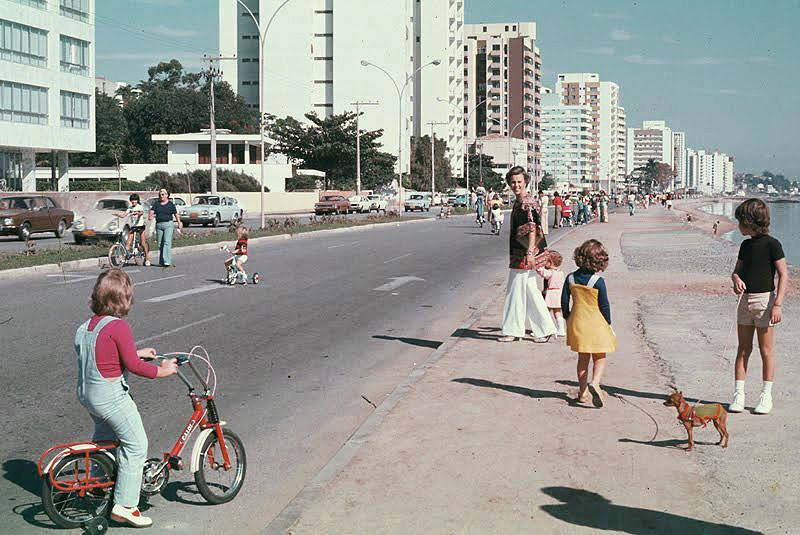 Av. Beira Mar Norte na década de 1970 - Acervo Banco de Imagens Casa da Memória/Divulgação/ND