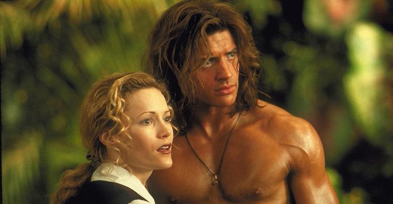 26/10 – George, o Rei da Floresta (1997): Criado por uma primata protetora na selva africana, um desengonçado Tarzan acaba encontrando o amor em uma mulher milionária que se aventura em um safári. - Crédito: Divulgação/33Giga/ND