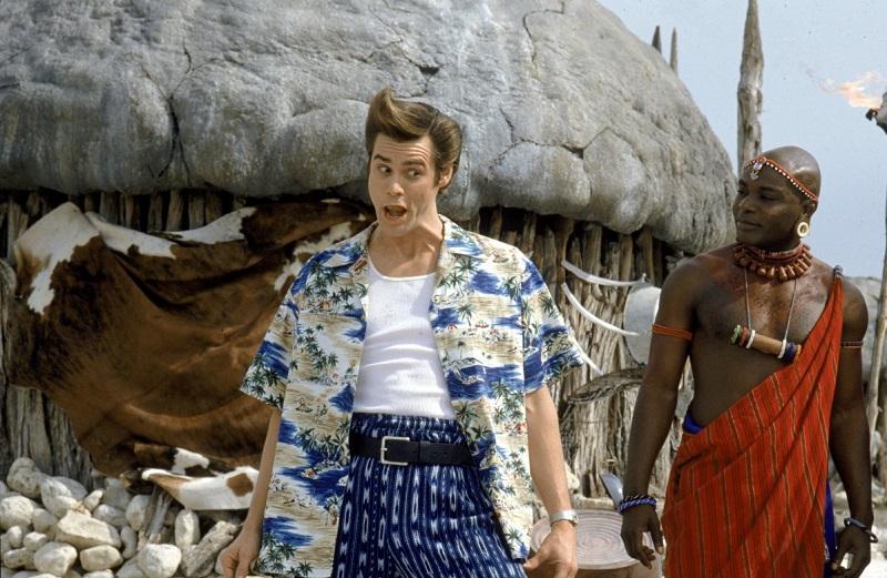01/11 – Ace Ventura 2: Um Maluco na África (1995): Ace vai à África para recuperar um raro morcego branco. Se ele falhar, a guerra com a violenta tribo dos Wachootoo será inevitável. - Crédito: Divulgação/33Giga/ND