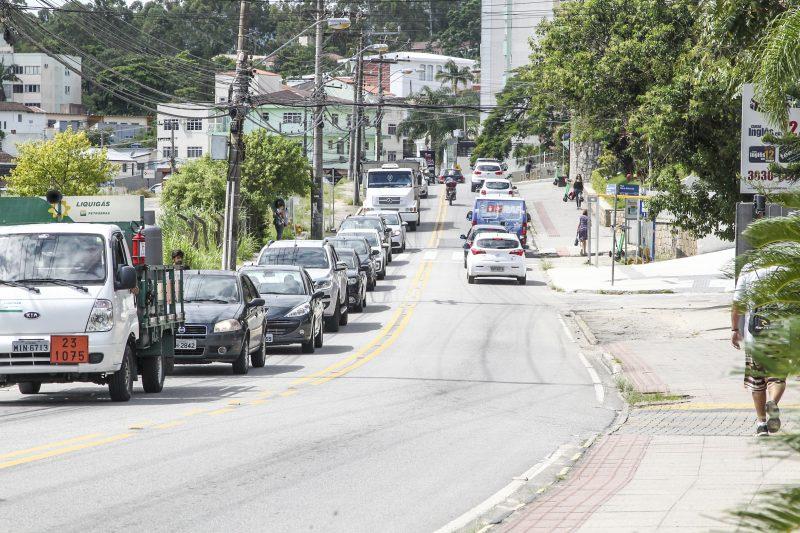 """<span style=""""font-weight: 400;"""">Parte da Avenida Deputado Edu Vieira</span> poderá ser transformada em binário &#8211;Foto: Marco Santiago/ND"""