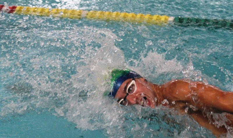 Cristian Machado bateu único recorde da natação – Foto: Alessandro Koizumi/Divulgação/ND