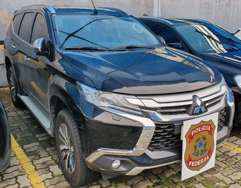 Mitsubishi Pajero na casa de acusado em Florianópolis - Divulgação PRF/ND
