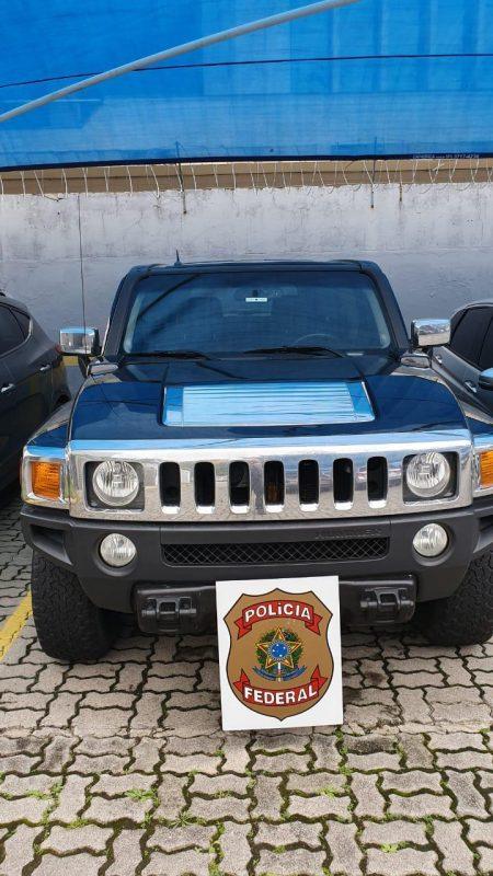 Hummer apreendido na casa de acusado em Florianópolis - Divulgação PRF/ND