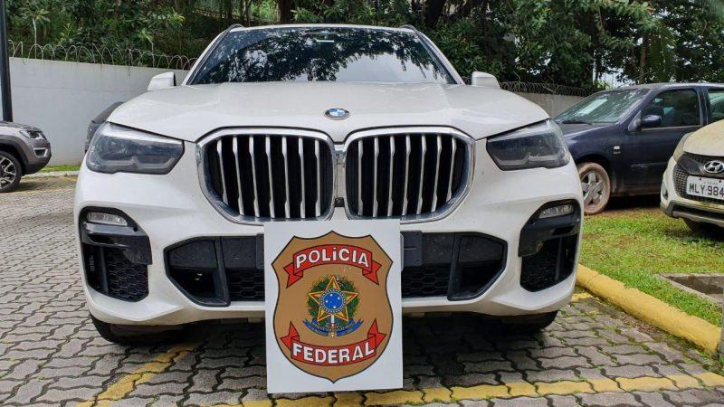 SUV da BMW apreendida na casa de acusado em Florianópolis - Divulgação PRF/ND
