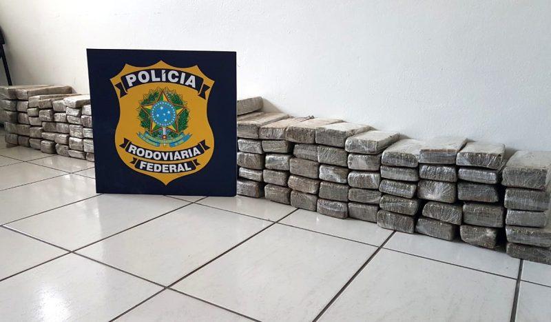 Droga teria como destino a região da Grande Florianópolis – PRF/Divulgação