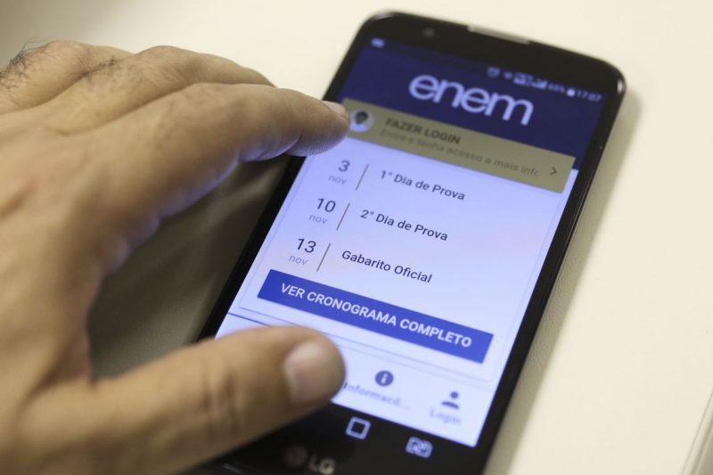 Aplicativo de Celular ENEM 2019 – Foto: Marcello Casal JrAgência Brasil/ND