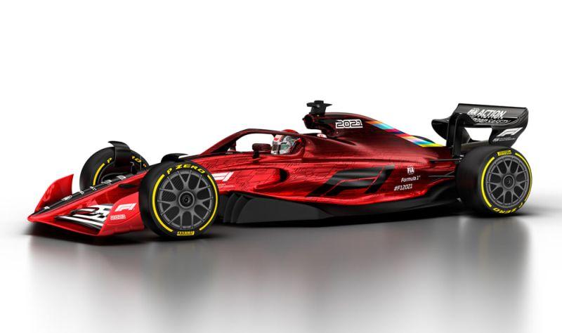 Este será o visual dos bólidos da F1 em 2021 - Foto: Divulgação - Foto: Divulgação/Garagem 360/ND