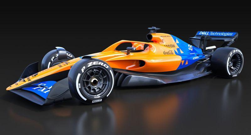 McLaren se antecipou e fez uma brincadeira de como seria seu carro de 2021 com as cores atuais - Foto: Divulgação - Foto: Divulgação/Garagem 360/ND