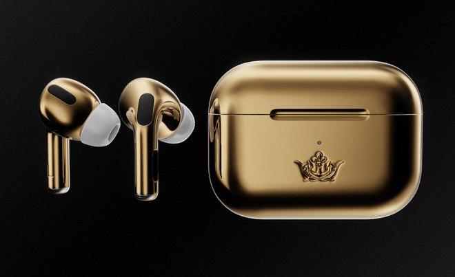 Essa versão de ouro dos fones sem fio da Apple são os mais caros disponíveis no mercado - Reprodução/Caviar