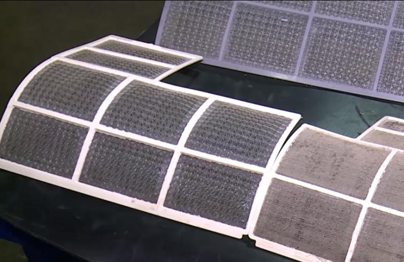 Filtro sujo dificulta a proliferação do ar, fazendo com que o aparelho trabalhe mais – Foto: RICTV/Divulgação/ND
