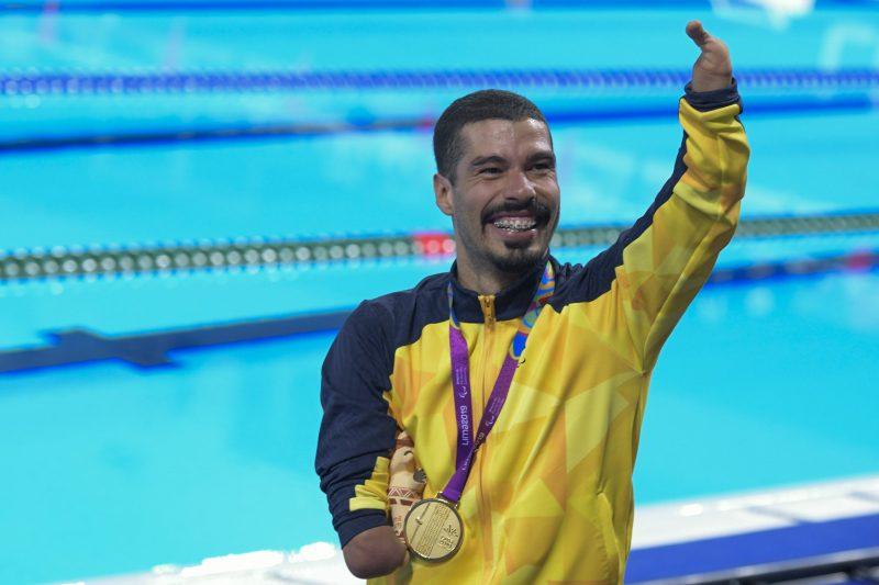 Daniel Dias é o maior medalhista paralímpico da história, com 24 medalhas em três jogos – Foto: Washington Alves/EXEMPLUS/CP/ND