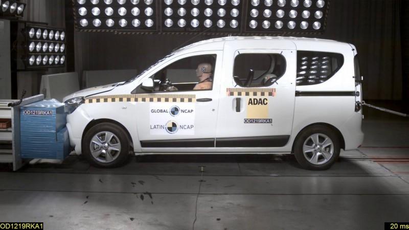 O Latin NCAP analisou uma versão do Renault Kangoo que é diferente da encontrada no Brasil (o veículo avaliado é derivado de um projeto da Dacia, além de ter versão de passageiros). Ele obteve três estrelas para adultos e quatro para a proteção infantil - Foto: Divulgação - Foto: Divulgação/Garagem 360/ND