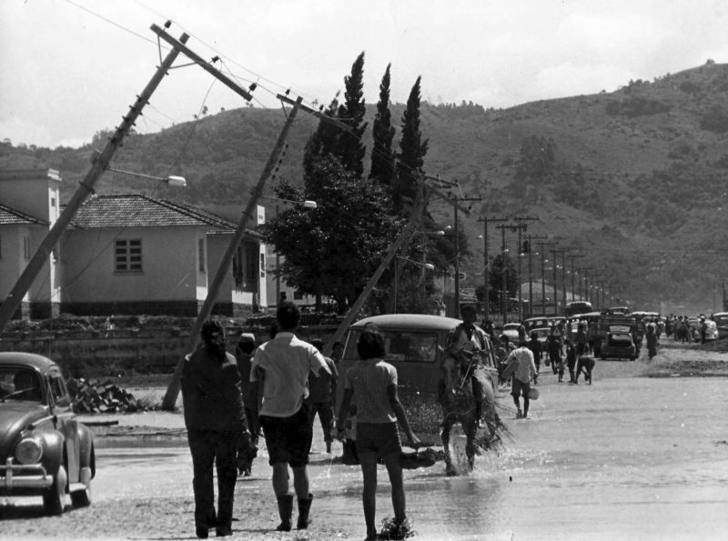 Tubarão sofreu com inundação em março de 1974 – Foto: Arquivo Público de Tubarão/Reprodução/ND
