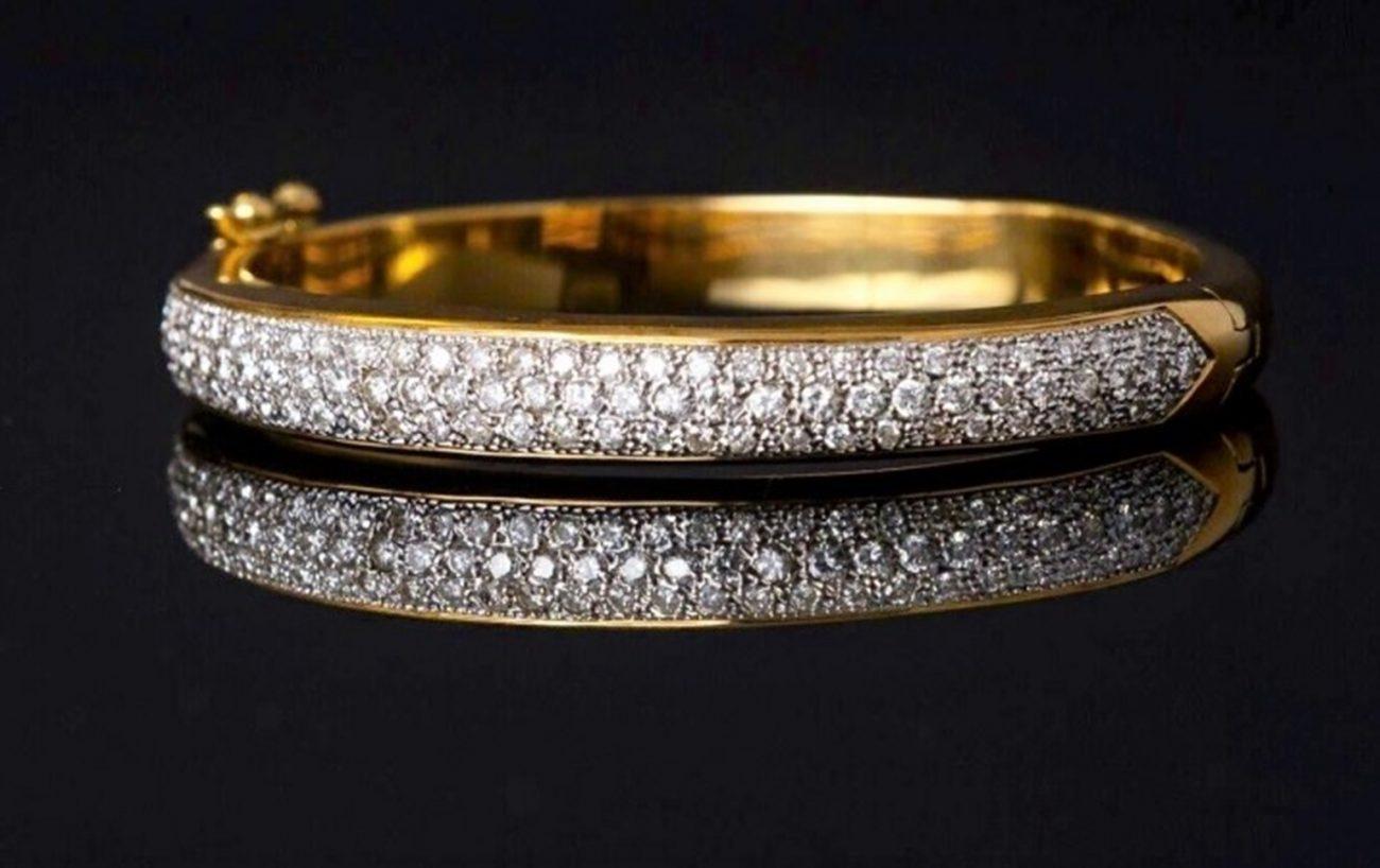 Bracelete em ouro branco, amarelo e diamante - Divulgação/ND
