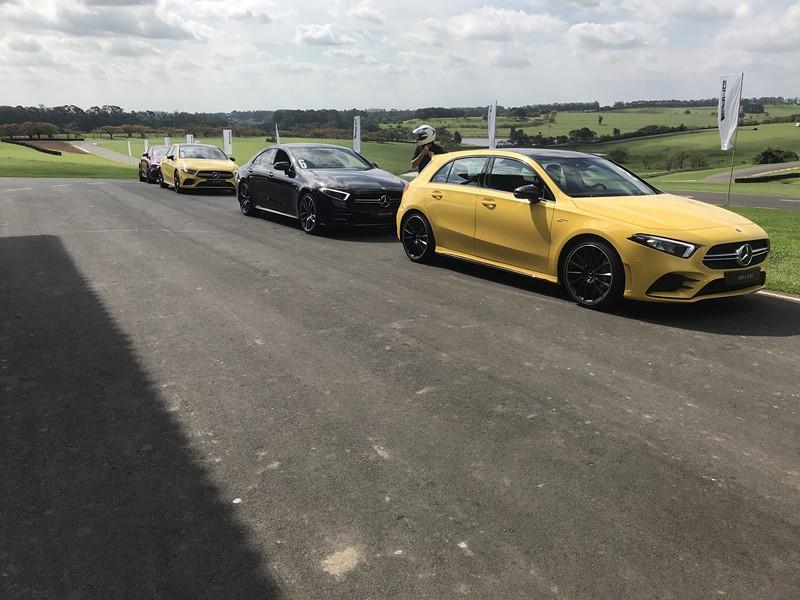Modelos da Mercedes-AMG no evento - Foto: Leo Alves - Foto: Leo Alves/Garagem 360/ND