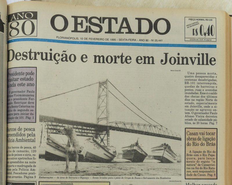 Enchente atingiu a cidade em fevereiro de 1995 – Foto: Anderson Coelho/ND