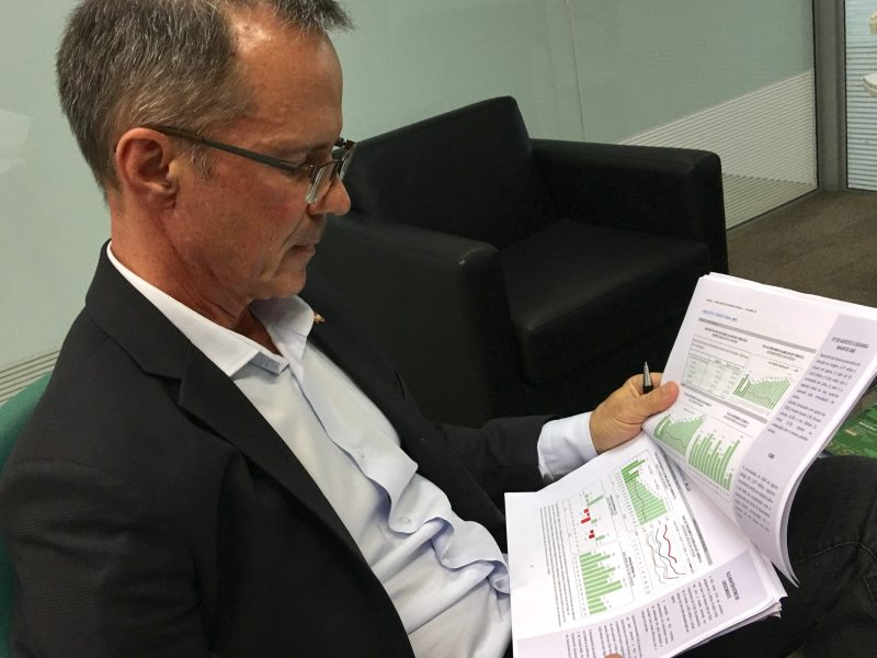 De acordo com o economista Paulo Zoldan, 2020 será melhor do que 2019 para Santa Catarina – Foto: Eduardo Cristófoli/Divulgação/ND