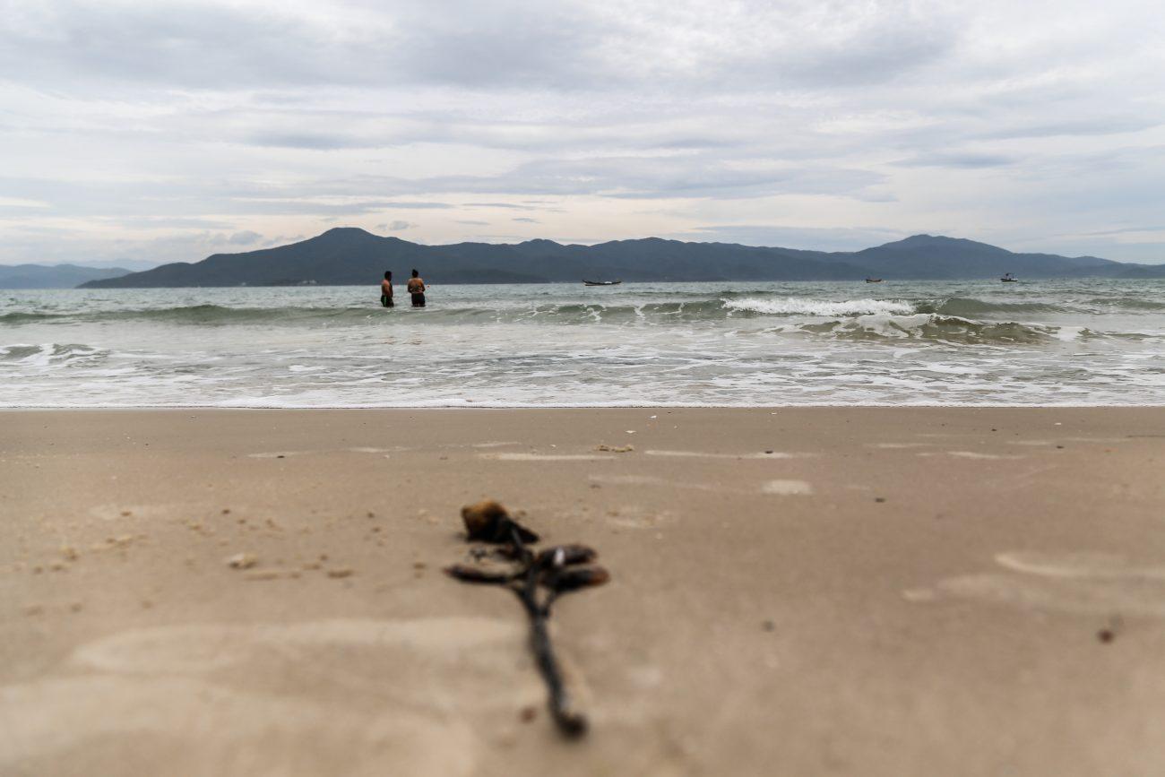 Banhistas aproveitam a praia da Daniela - Anderson Coelho/ND